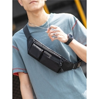 男士腰包潮单肩斜挎包多功能运动休闲胸包小型轻便手机包