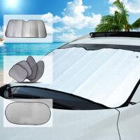 加厚隔热遮阳板夏季防晒铝膜避光垫太阳前挡通用 汽车遮阳挡6件套
