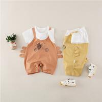 婴幼儿衣服男女宝宝外出服潮0-1岁婴儿连体衣夏装薄款哈衣