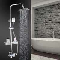 明装恒温花洒套装 全铜冷热淋浴室水龙头电热水器太阳能混水阀