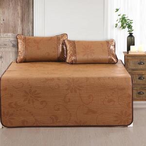 御藤席凉席 1.5米/1.8米床三件套 单双人 席子 凉席 光滑舒适 可折叠 易收纳