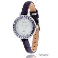 2018新款聚利时 时尚奥地利水晶女表 蟒纹漆皮配皮表带女士手表 JA-555 紫色
