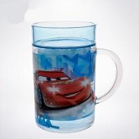 赛车总动员闪电麦昆儿童塑料水杯家居双层杯子