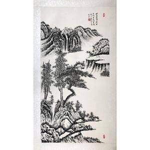中国国画家协会理事 陈乃贤(挥毫绘成天然画)已托裱ZH88