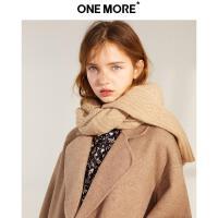 【11.08-11.13 遇见11.11 到手价:582元】ONE MORE冬新羊毛大衣女双面呢毛呢外套落肩宽松