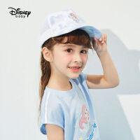 【99元3件:33元】迪士尼童装女童鸭舌帽2021新款洋气儿童宝宝可爱梭织卡通公主帽子
