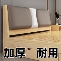 实木床1.5米现代简约双人床1.8米简易原木出租房经济型1.2m单人床