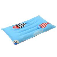 婴儿枕头儿童枕头荞麦壳0-3-5岁宝宝新生儿幼儿园小学生四季枕头 蓝色 荞麦壳鱼儿