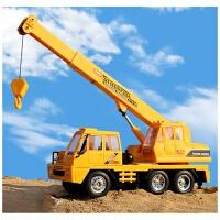 超大型无线遥控吊车起重机工程车带充电玩具车吊塔吊工程车吊机模型男孩玩具 吊车