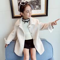 中大童韩版时髦加厚大衣2019新款洋气派克服女童毛呢外套