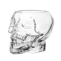 创意玻璃鸡尾酒杯骷髅头酒杯威士忌烈酒个性万圣节白酒洋酒杯酒吧