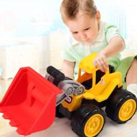 工程车玩具套装儿童车沙滩滑行挖土机挖掘机宝宝四轮汽车2岁男孩