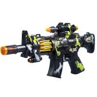 宜佳达 儿童电动玩具枪男孩子发声光音乐震动宝宝小孩冲锋抢2-3-4-5-6岁六一儿童节礼物 官方标配