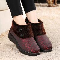 冬季老北京布鞋女棉鞋加绒加厚妈妈鞋老人棉靴女厚底奶奶棉鞋