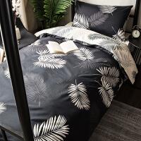 纯棉大学生宿舍床上用品三件套寝室床单人被套全套装被褥一整套六