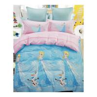 冰雪奇�3D全棉四件套床品艾�公主�L�和��棉被套卡通床�稳�件套定制
