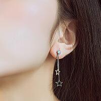 925银五角星女无耳洞耳夹 仙气森系 仙长款式气质耳环冷淡风耳饰