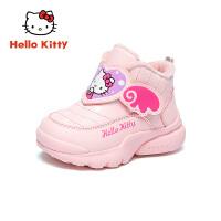 【到手价:109元】HelloKitty凯蒂猫童鞋儿童棉鞋女2019冬季新款女童宝宝加绒保暖运动鞋K9543819