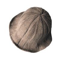 渔夫帽子女士秋冬天盆帽羊毛混纺针织帽保暖韩国可折叠日系百搭潮 均码