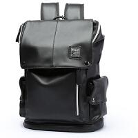 欧洲站男士真皮双肩包旅行背包时尚潮流书包商务电脑包大容量韩版