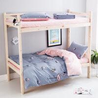 全棉纯棉学生宿舍寝室儿童床单人床上用品3三件套上下铺1.2米被套