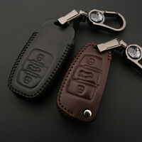 【品牌特惠】奥迪19款A6L钥匙包Q5新A4L扣Q3专用Q7 Q5L改装A3A8汽车男女汽车扣包 情侣系 一对装 黑+