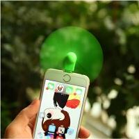 苹果二用小米USB随身电扇迷你蛇形小风扇桌面静音充电宝学生手机抖音 桔红色 苹果绿色