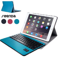 SeenDa苹果iPad Pro iPad Air 2 无线蓝牙键盘皮套 可拆卸键盘+皮套两用 iPad Pro 9.7/12.9保护套 iPad Air保护壳