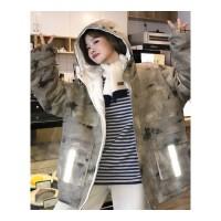 街头潮牌迷彩棉衣男女冬季新款加厚短款羽绒外套嘻哈情侣棉袄