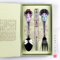 京剧脸谱餐具中国风特色礼品送老外出国小礼物北京特产纪念工艺品