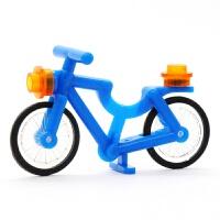 兼容乐高积木人仔动物坐骑狼鲨鱼自行车单车摩托拼装儿童DIY玩具9