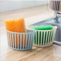 厨房用品水槽塑料挂篮置物架水管卡槽海绵收纳架杂物沥水架