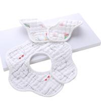 0-24个月男女宝宝小孩围兜棉纱布婴儿口水巾围嘴棉360度旋转围兜