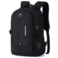 瑞士双肩包男休闲大容量商务电脑背包旅行包女中学生书包军刀潮包