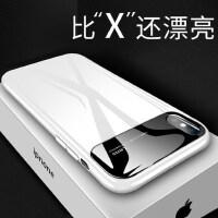 苹果x手机壳iPhonexsmax新款保护套iPhoneX潮牌男xr超薄女款xs玻璃iPhonexr镜面xmax外壳in