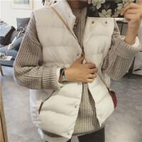 香港秋冬韩版修身无袖短款棉衣背心女羽绒外套坎肩马甲