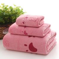 浴巾毛巾套装卡通婴儿童巾超吸水男女加大加厚比纯棉柔软 140x70cm