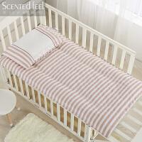 全棉幼儿园床垫春夏儿童褥子垫子宝宝小床垫被婴儿床纯棉花垫可洗定制 不可洗棉花垫芯+一个垫套 【拍下备注颜色】