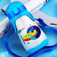 新品时尚可爱飞行帽儿童保温杯 儿童水杯 儿童茶杯儿童吸管杯