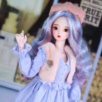 芭比娃娃 新年礼物 精品 德必胜娃娃梦幻系列新品60cm 改装娃娃玩具bjd换装娃娃送女友礼物 优然60cm