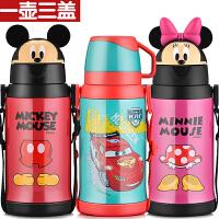 包邮!迪士尼保温壶 一壶三盖(吸管+直饮+杯盖式)吸管儿童水壶防漏 550ML儿童水杯 多色可选!