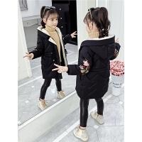 洋气加厚保暖童装小女孩棉袄女童冬装外套2019新款韩版棉衣外套