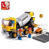 快乐小鲁班拼装积木玩具男孩6岁以上拼插玩具重型工程系列 抖音