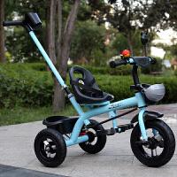 W 儿童三轮车小孩自行车童车玩具男女宝宝2-3-4-5岁脚踏车单车可推