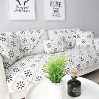 北欧全棉沙发垫四季通用防滑布艺简约现代客厅坐垫子沙发套靠背巾定制