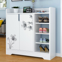 【直降】简易鞋柜简约现代门厅柜家用鞋柜仿实木色门口小鞋架