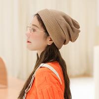帽子女秋冬天可爱ins韩版针织帽日系潮加厚保暖韩版百搭毛线帽冬