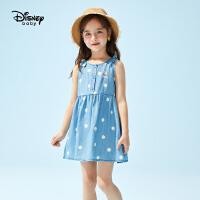 【2件3折:74.7元】迪士尼女童2021新款波点连衣裙夏时尚儿童连衣裙女宝宝公主裙夏款