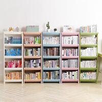 学生简易书架儿童书柜飘窗塑料经济型书架简约落地多层收纳置物架