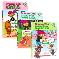 Princess Pink and the Land of Fake-Believe 英文原版Scholastic B